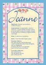 Nombre Jeanne