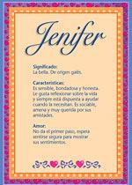 Origen y significado de Jenifer