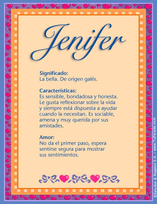 Jenifer, imagen de Jenifer