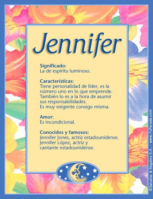 Jennifer, imagen de Jennifer