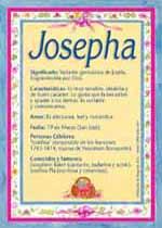 Nombre Josepha