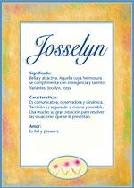 Origen y significado de Josselyn