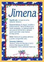 Origen y significado de Jimena