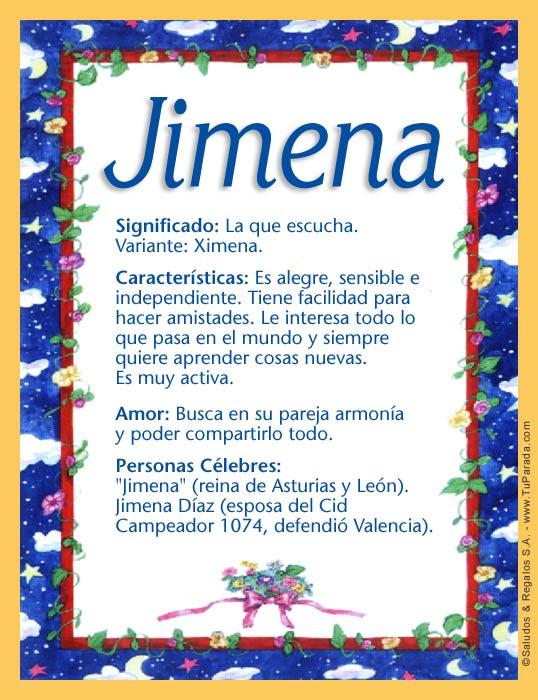 Jimena, imagen de Jimena
