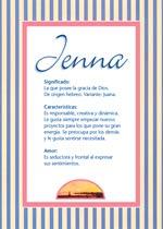 Origen y significado de Jenna