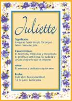 Nombre Juliette