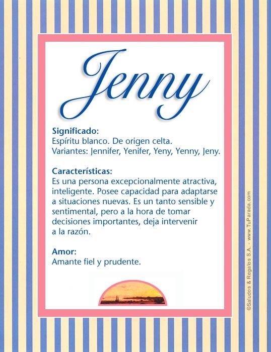 Jenny, imagen de Jenny