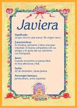 Origen y significado de Javiera