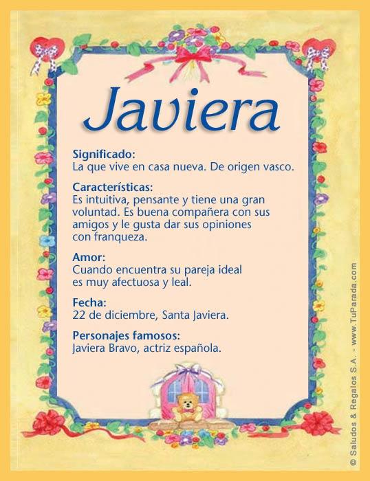 Javiera, imagen de Javiera