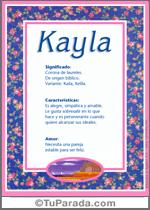 Nombre Kayla