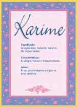 Origen y significado de Karime