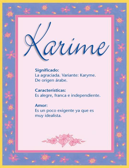 Karime, imagen de Karime