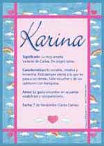 Origen y significado de Karina