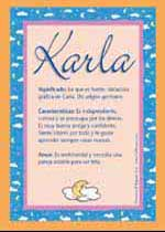 Nombre Karla