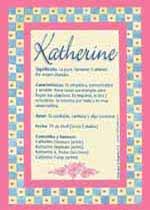 Origen y significado de Katherine