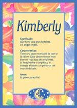 Origen y significado de Kimberly