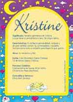 Nombre Kristine