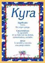 Nombre Kyra