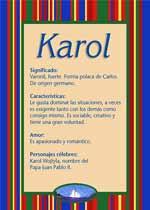 Nombre Karol