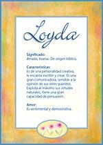 Nombre Loyda