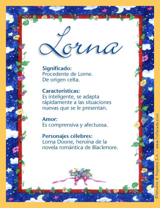 Lorna, imagen de Lorna