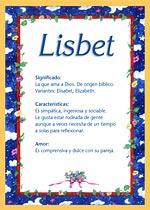 Nombre Lisbet