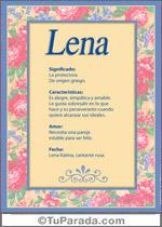 Origen y significado de Lena