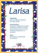Nombre Larisa