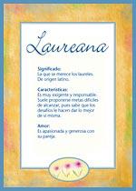 Origen y significado de Laureana