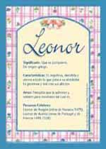 Origen y significado de Leonor