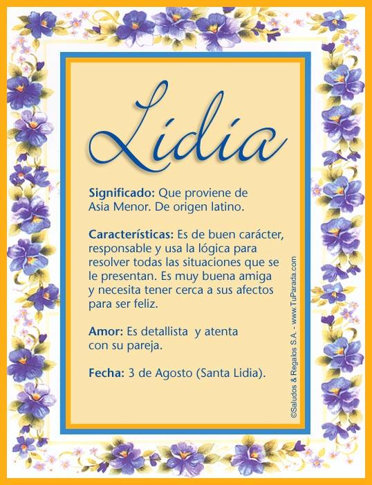 Lidia, imagen de Lidia