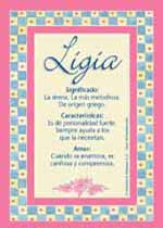 Origen y significado de Ligia