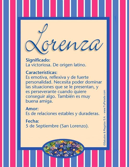 Lorenza, imagen de Lorenza