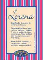 Origen y significado de Lorena
