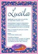 Nombre Lucila