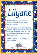 Nombre Lilyane