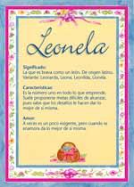 Nombre Leonela