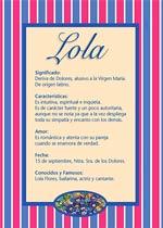 Origen y significado de Lola