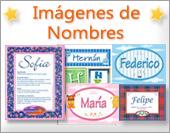 Tarjetas, postales: Imágenes de nombres