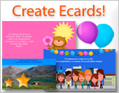 Greeting ecards: Create ecards
