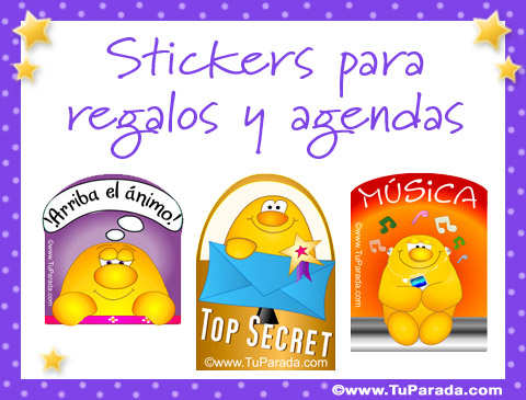 tarjetas de stickers para regalos y agendas