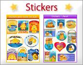 Tarjetas, postales: Stickers