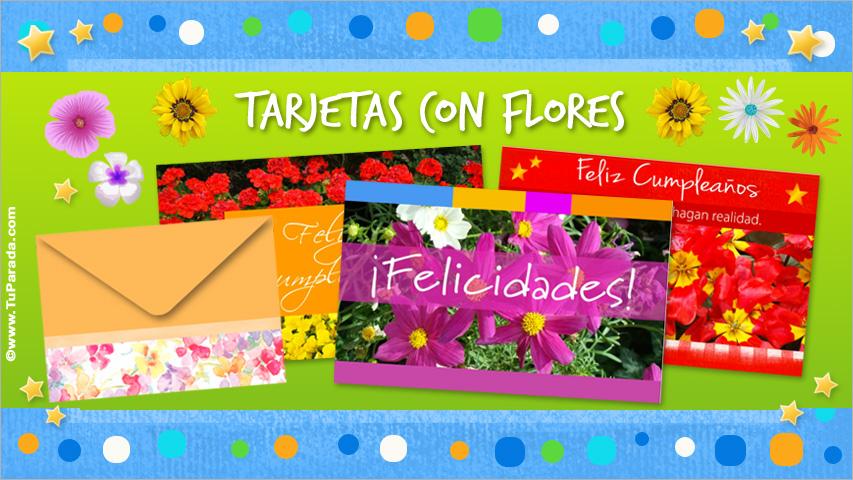 Tarjetas de Modelos de flores