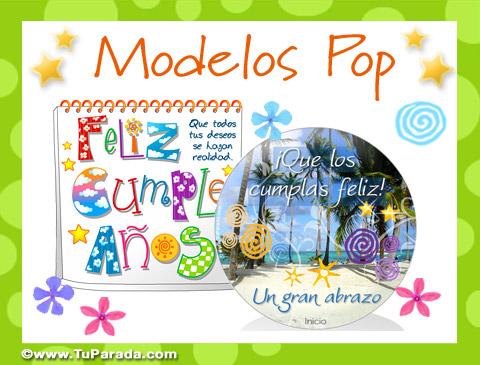 Tarjetas de Modelos Pop