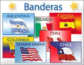 Tarjetas postales: Banderas