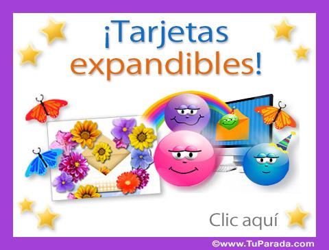 Tarjetas animadas expandibles - Postales fullscreen, tarjetas ...
