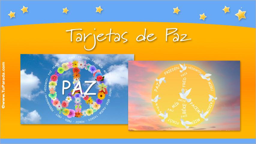 Tarjetas de Paz