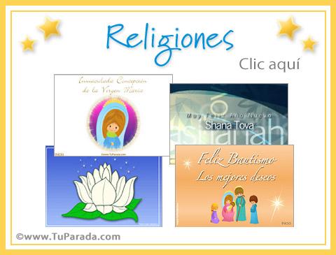 Tarjetas de Religiones