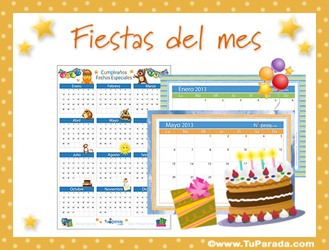 Tarjetas de Fiestas del mes