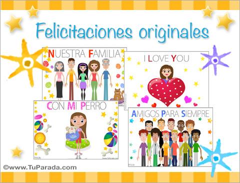 Postales de Felicitaciones originales